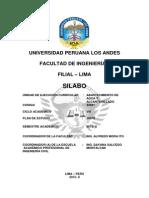 Silabos Abastecimientos de Agua y Alcantarillado 2015-II
