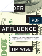 Under the Affluence Table of Contents, Introduction, and Beginning of Chapter 1
