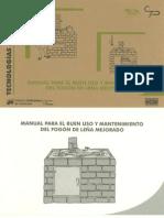 Manual para el buen uso y mantenimiento del Fogón de leña Mejorado