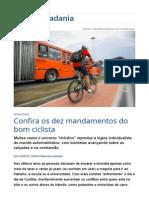 Confira Os Dez Mandamentos Do Bom Ciclista _ Vida e Cidadania _ Gazeta Do Povo