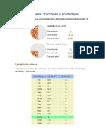 Decimales, fracciones y porcentajes