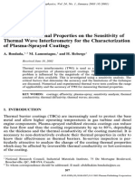 Influence of Thermal Properties on the Sensitivity of Thermal Wave Interferometry for the Characterization of Plasma-Sprayed Coatings