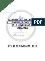 Bases 3° encuentro cientifico estudiantes universidad de Valparaíso 2015