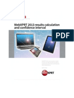 WebXPRT 2013 results calculation and confidence intervals