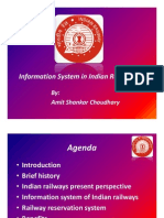 Passenger Reservation System of Indian Railways