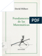 David Hilbert - Fundamentos de Las Matematicas