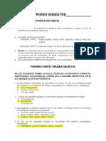 Evaluacion Distancia Primer Bimestre Expresión Oral y Escrita