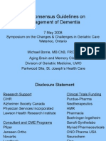 New Consensus Guidelines on Management of Dementia