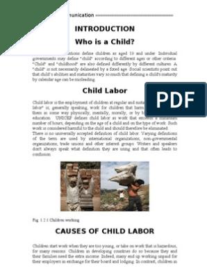 Child Labor Long Report | Child Labour | Poverty