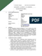 Silabo de Termodinamica Aplicada 2015-2