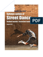 Street Dance Student Teacher and Associate Syllabus Outline January 2015 2