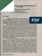 ABAURRE, B. O Desenvolvimento de Critérios de Sementação Na Escrita