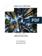 ethical conservation  learning to live with nature