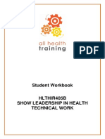 HLTHIR405B Show Leadership Workbook V2