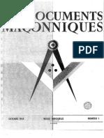 Les Documents Maconniques Volume v 1943