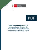 Guía de Estudio de Caracterización de Residuos Sólidos