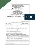2014 Hypatia Contest