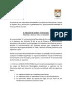 30-09-15 Punto de Acuerdo Comisarios Municipales Bahia de Kino y Poblado Miguel Aleman
