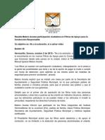 02-10-15 Resalta Maloro Acosta participación ciudadana en Filtros de Apoyo para la Conducción Responsable