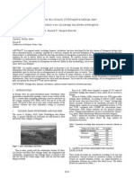 Dynamic calculation for the dry closure of Almagrera tailings dam
