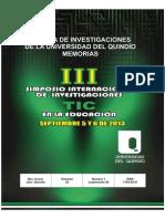Memorias Simposio INVestigación y  TIC