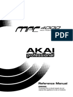 Akai MPC4000 Manual