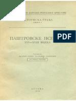 Paštrovske isprave, knjiga I