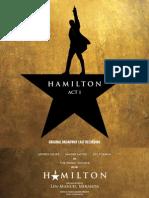 Hamilton (Original Broadway Cast Recording) - Act I Booklet (Hi-res) - FINAL