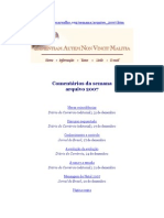 Olavo de Carvalho_Artigos_2007_Comentários Da Semana