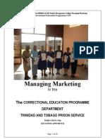Rowen Bedeau Managing Marketing Assignment-A