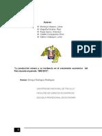 Proyecto_incidencia de La Produccion Minera Sobre El Pbi Real