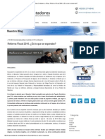 Maya Contadores – Blog » Reforma Fiscal 2016