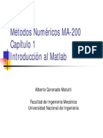 1era Clase MA-200 Capitulo 1-Introduccion-Matlab