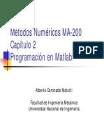 2da Clase MA-200 Capitulo 2-Programacion-Matlab