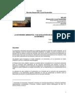 La Economía Ambiental y su desarrollo en el pensamineto econímico