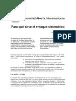 Para Que Sirve El Enfoque Sistemático - Adolfo Groppo