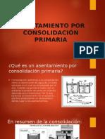 Asentamiento Por Consolidación Primaria