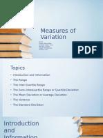 Measures Of Variations