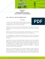 Unit i - Module III - Written Communication