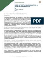 Resolucion 364 Regimenes de Importacion Sujetas a Control Previo