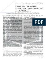 CONVECTIVE HEAT TRANSFER ENHANCEMENTS IN TUBE USING INSERT – A REVIEW