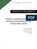 Diseñar Un Almacén de Producto Terminado Para Distribución de Nuevas Rutas Liconsa