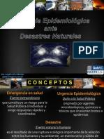 Epidemiologia y Desastres