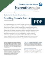 Avoiding Shareholder Activism
