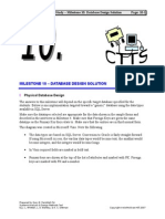 Case Study CTTS - Milestone 10 Database Design Solution