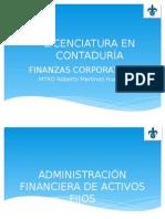 CLASE NO. 1 Administración Financiera de Activos Fijos