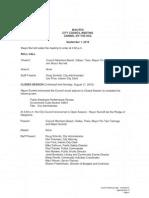 Draft Minutes 9-01-15