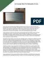 Choosing The Correct Garage Door Fix Enterprise In Los Angeles
