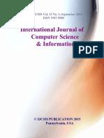 International Journal of Computer Science IJCSIS September 2015