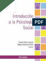 Introduccion a La Psicologia Social - Marin & Martinez
